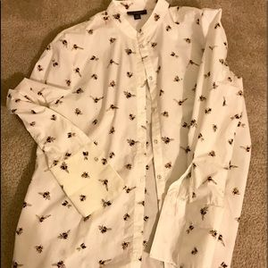Victoria Beckham for Target bumblebee button up